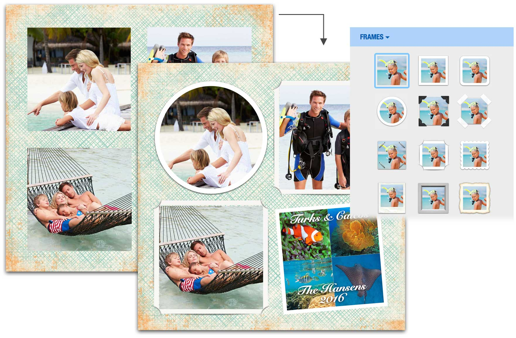 One-click frame examples.
