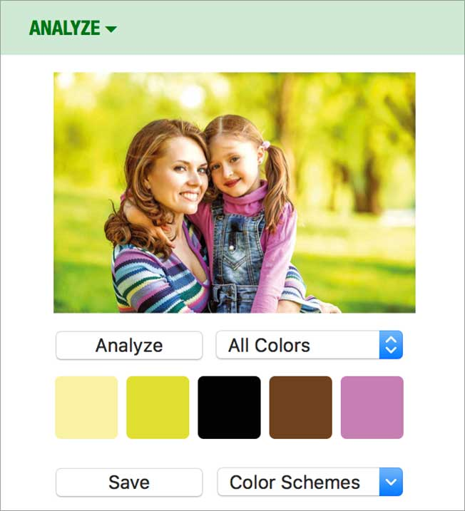 Photo Analyzer screenshot.